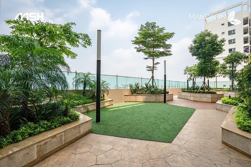 Vườn dưỡng sinh tại tầng 18 của chung cư Mandarin Garden 2