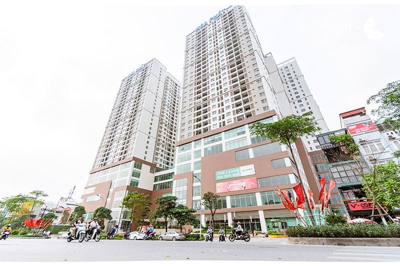 6 tầng trung tâm thương mại hiện đại tại chung cư Mandarin Garden 2