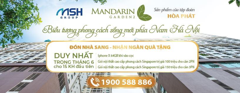 Đón nhà sang - Nhận ngàn quà tặng tại Mandarin Garden 2
