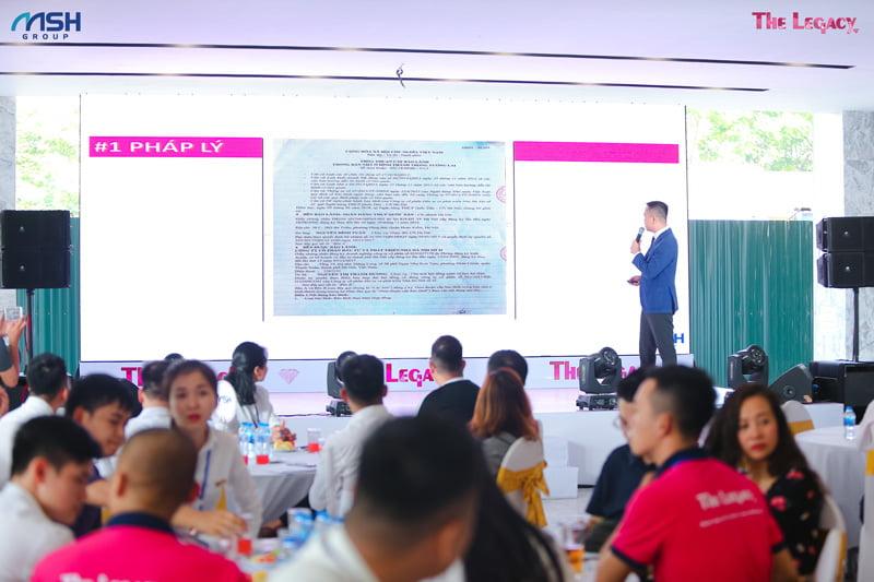 Ông Nguyễn Xuân Lộc, Tổng giám đốc MSH chia sẻ về The Legacy tại buổi lễ