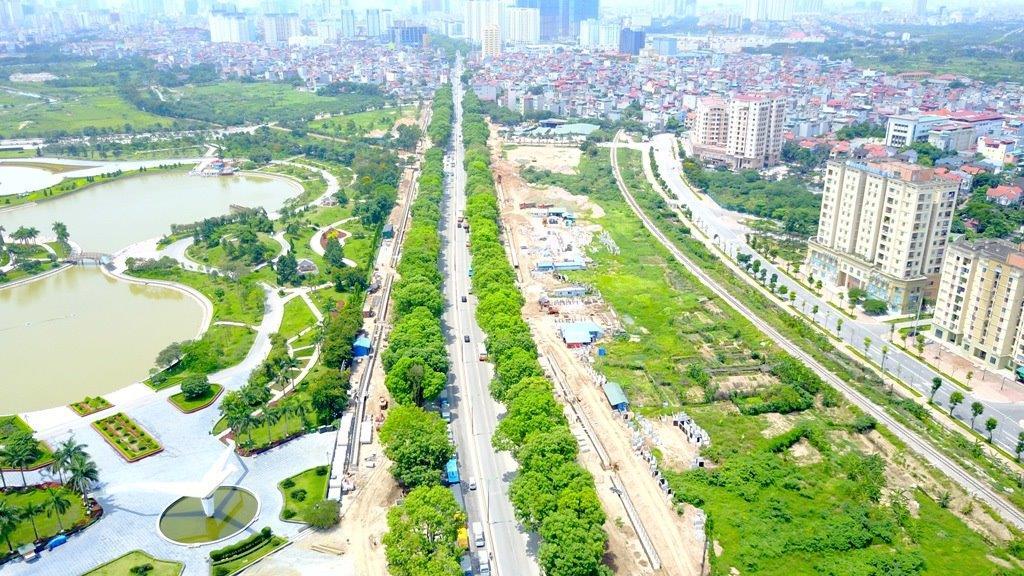 Đường Phạm Văn Đồng xây dựng mở rộng thúc đẩy sự phát triển bất động sản Mê Linh