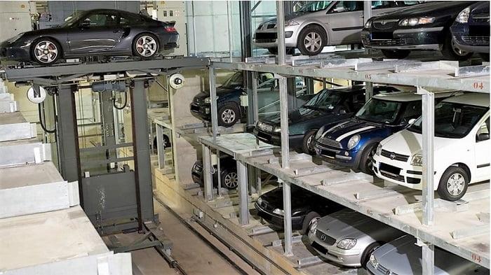 Hình ảnh minh hoạ bãi đỗ xe thông minh 3 tầng tại The Legacy